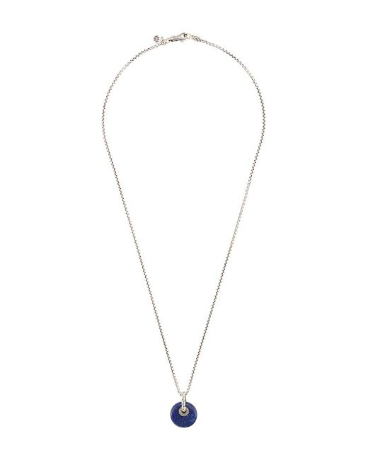 John Hardy Metallic Silver Classic Chain Necklace With Lapis Lazuli Pendant for men