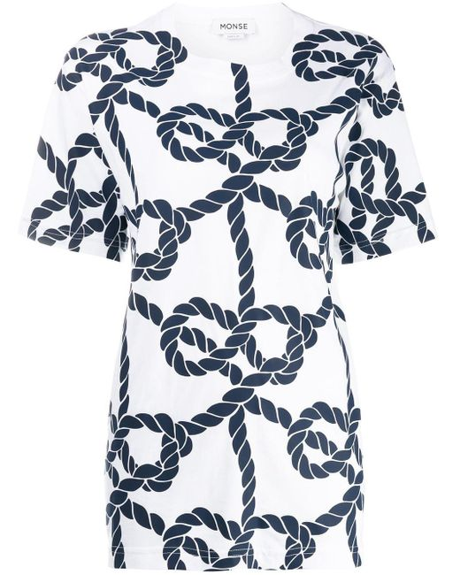 Monse ロープ Tシャツ White