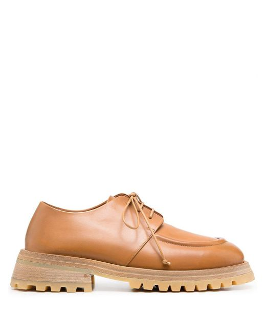 Marsèll Brown Chunky-sole Derby Shoes for men