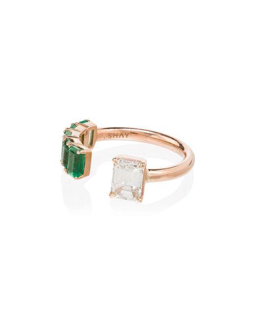 SHAY ダイヤモンド&エメラルド リング 18kローズゴールド Metallic