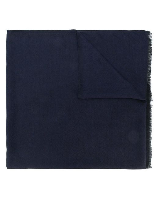 Z Zegna   Blue Classic Frayed Scarf for Men   Lyst
