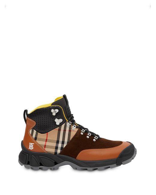 Ботинки-хайкеры Tor Burberry для него, цвет: Brown