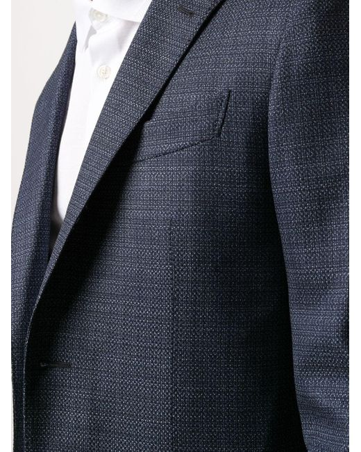 Однобортный Пиджак Ermenegildo Zegna для него, цвет: Blue