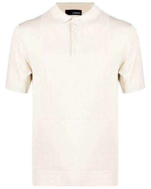 メンズ Lardini シルク ポロシャツ White