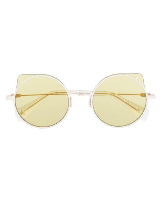 Occhiali da sole di Yohji Yamamoto in White