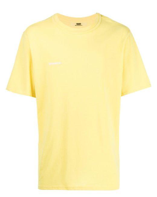 メンズ WWWM ロゴ Tシャツ Yellow