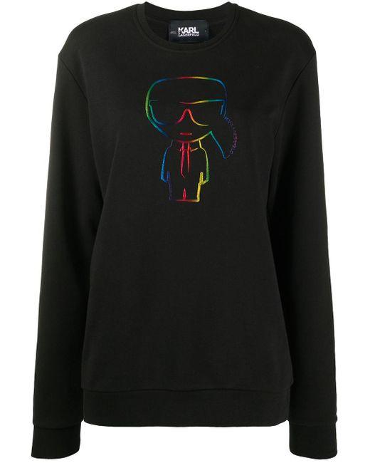 Толстовка Ikonik С Логотипом Karl Lagerfeld, цвет: Black