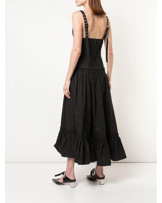 Proenza Schouler ティアード ドレス Black