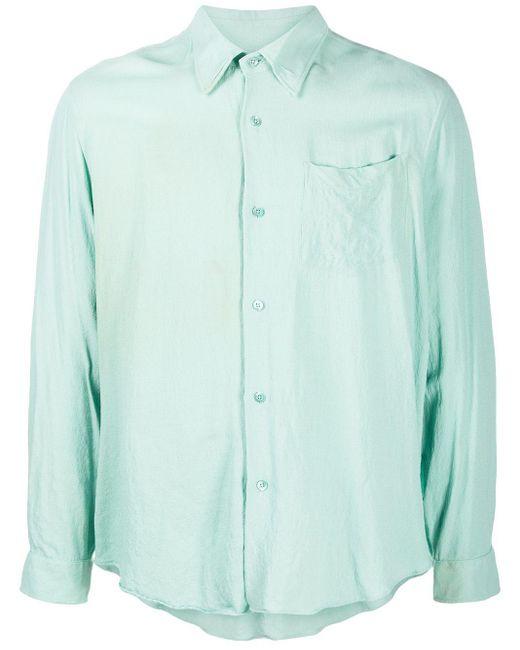 Рубашка С Длинными Рукавами И Жатым Эффектом AMI для него, цвет: Green