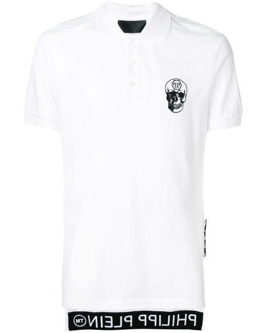 メンズ Philipp Plein スカル ポロシャツ White