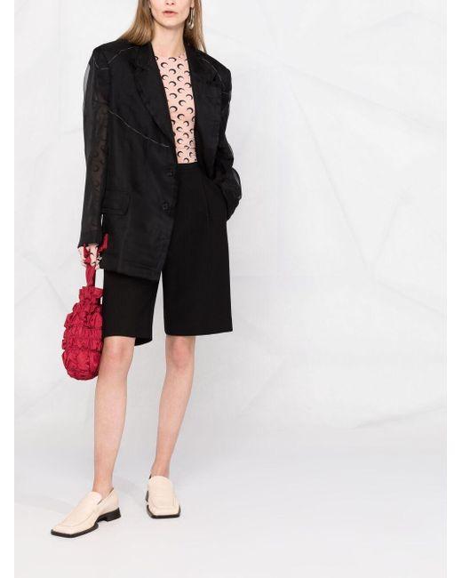 Однобортный Пиджак С Прозрачными Вставками Maison Margiela, цвет: Black