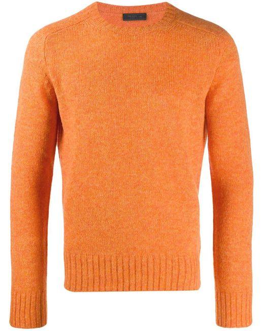 メンズ Prada ラウンドネック セーター Orange