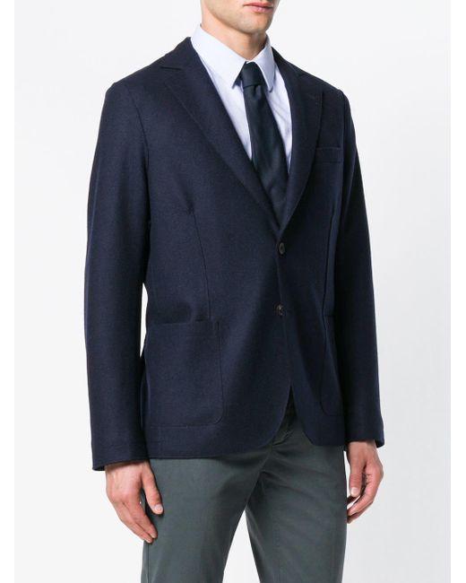 Altea Blue Classic Single-breasted Blazer for men
