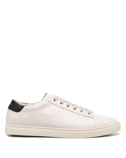 Paul Smith White Low-top Leather Sneakers