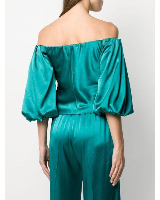 Blouse à épaules dénudées Pinko en coloris Green
