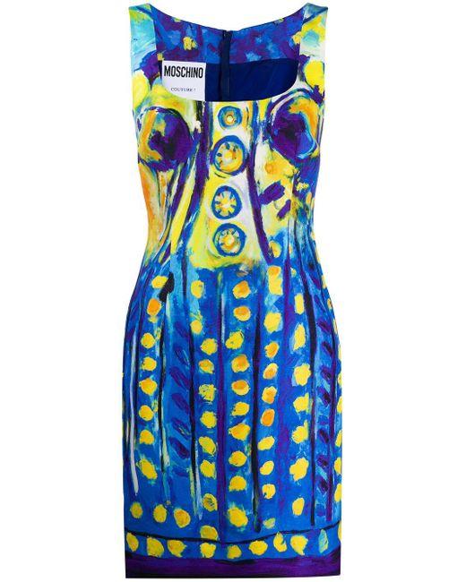 Moschino プリント ドレス Blue