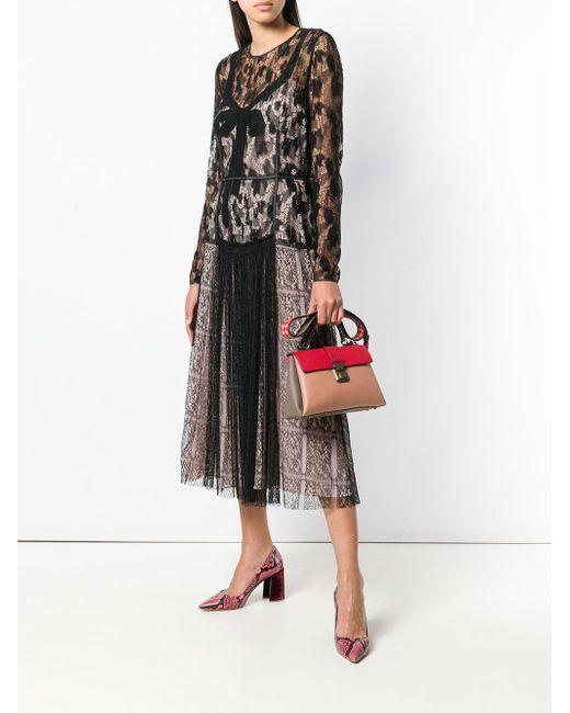 Lace Midi Dress Bottega Veneta, цвет: Black