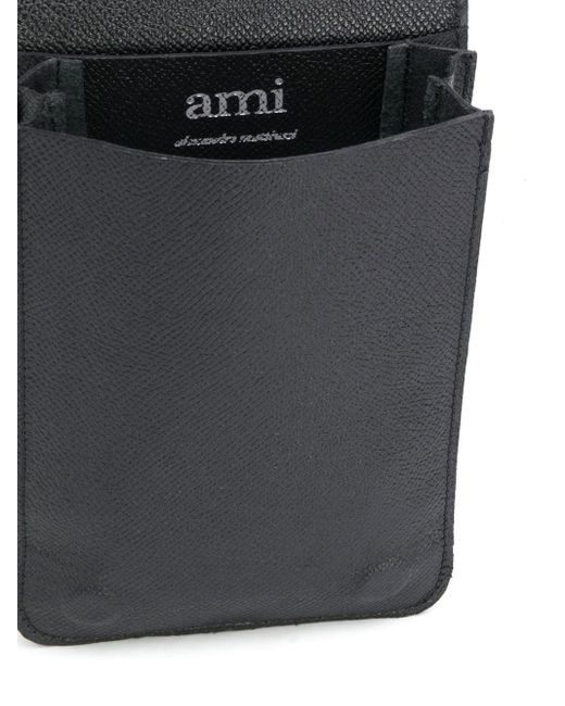AMI レザー アコーディオンバッグ Black