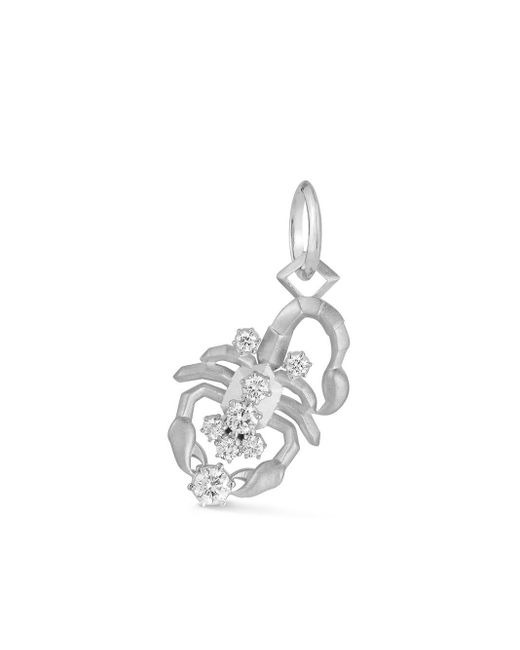 Jade Trau Scorpio ダイヤモンド ペンダント 18kホワイトゴールド White
