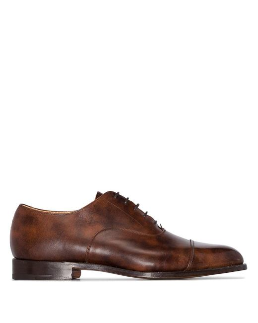 Оксфорды Appleton Tricker's для него, цвет: Brown