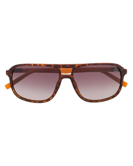 Timberland Brown Aviator Gradient Sunglasses