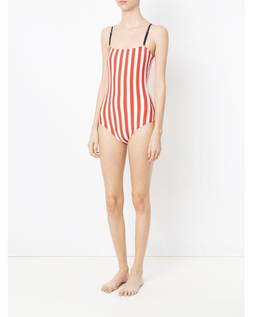 Lygia & Nanny Stripes X Juliana Jabour ワンピース水着 Red