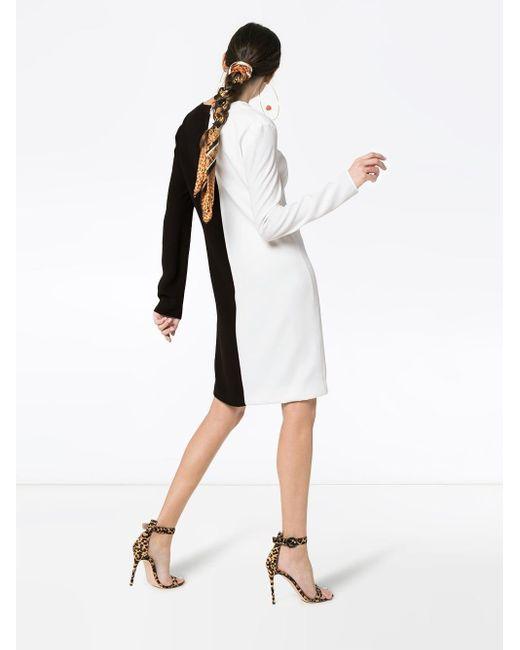 Givenchy バイカラー シフトドレス Black