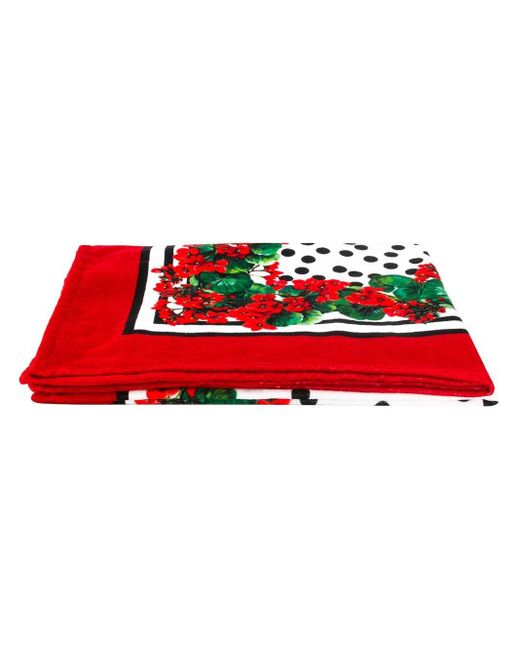 Dolce & Gabbana ポルトフィーノプリント ビーチタオル Red
