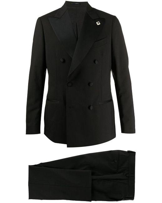 Костюм С Двубортным Пиджаком Lardini для него, цвет: Black