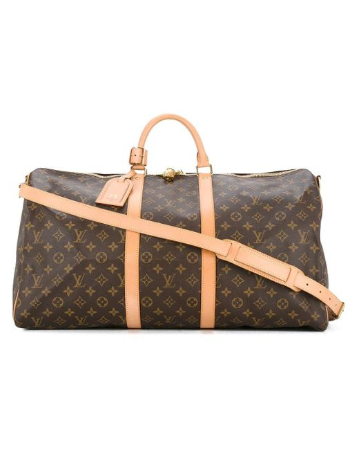 Сумка Keepall 55 Bandouliere Pre-owned Louis Vuitton, цвет: Brown