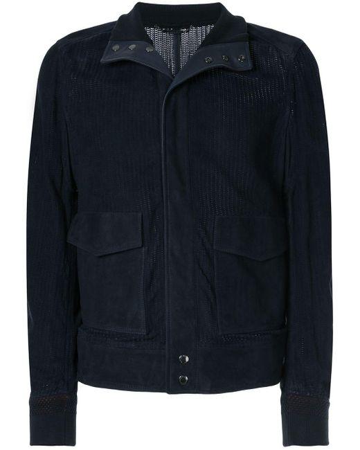 Куртка С Перфорацией Dolce & Gabbana для него, цвет: Blue
