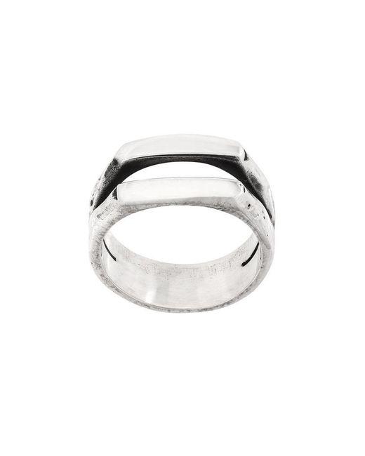 Henson - Metallic Carved Double Stacker Ring for Men - Lyst