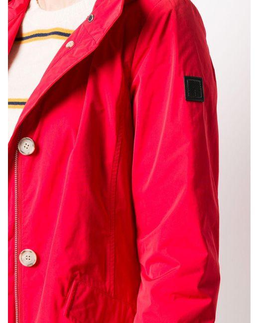 Woolrich Summer パーカーコート Red