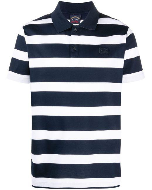 Paul & Shark Gestreiftes Poloshirt in Blue für Herren