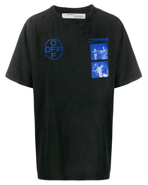 メンズ Off-White c/o Virgil Abloh Hardcore Caravaggio Tシャツ Black