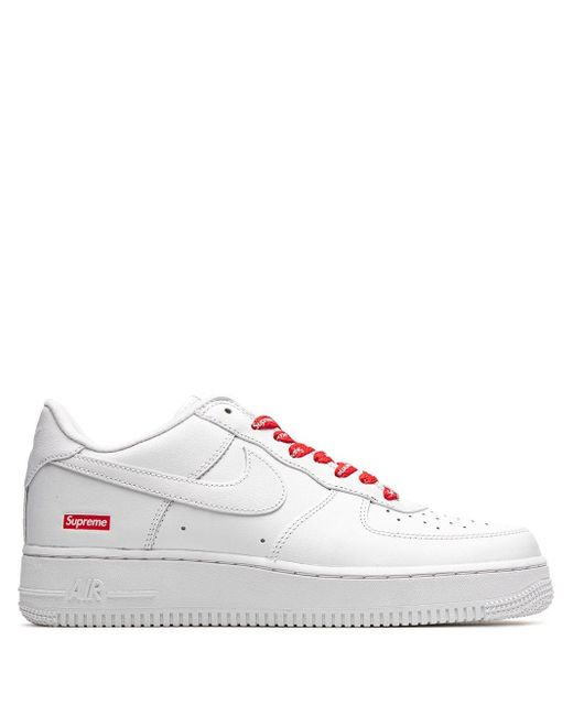 Nike White X Supreme Air Force 1 Sneakers for men
