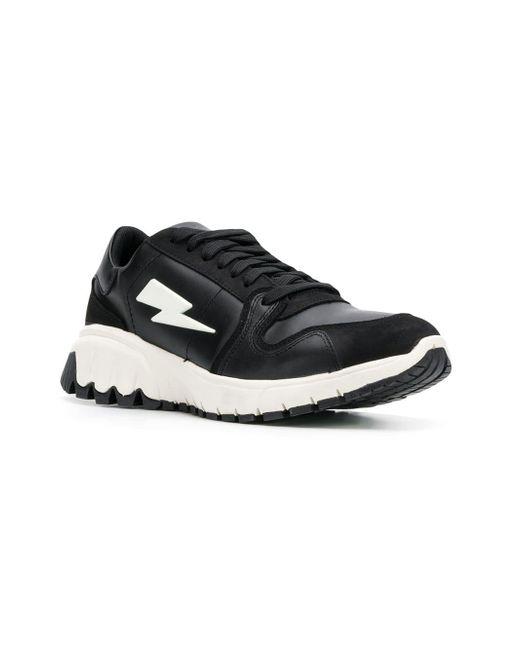 Herren Mit Blitzmotiv Schwarz Sneakers In 08OXnwPNk