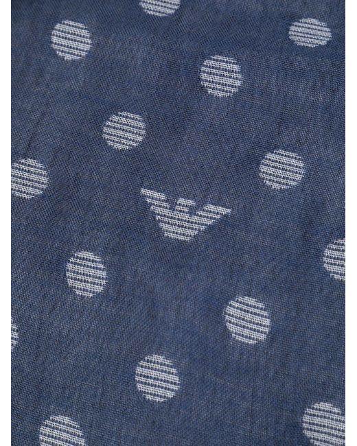 Шарф С Логотипом Emporio Armani для него, цвет: Blue