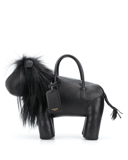Сумка-тоут Lion Thom Browne для него, цвет: Black