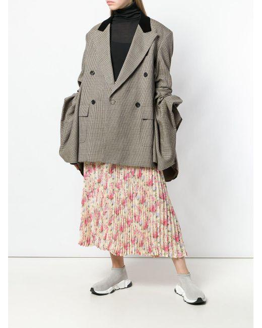 Junya Watanabe フローラル プリーツスカート Yellow