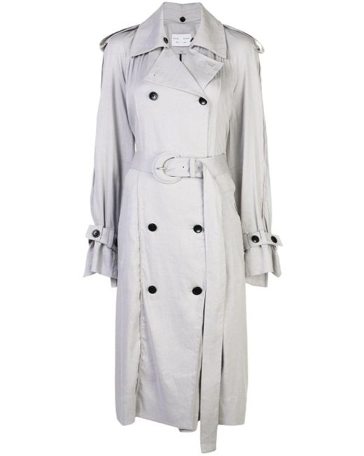PROENZA SCHOULER WHITE LABEL ベルテッド トレンチコート Multicolor