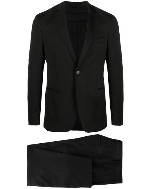 Tonello Black Single-breasted Wool Suit for men