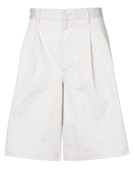 メンズ Comme des Garçons ルーズフィット テーラード ショートパンツ White