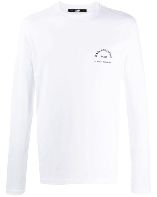メンズ Karl Lagerfeld Rue St. Guillaume Tシャツ White