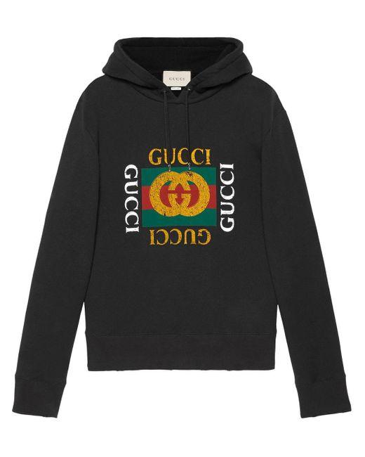 Толстовка С Логотипом Gucci для него, цвет: Black