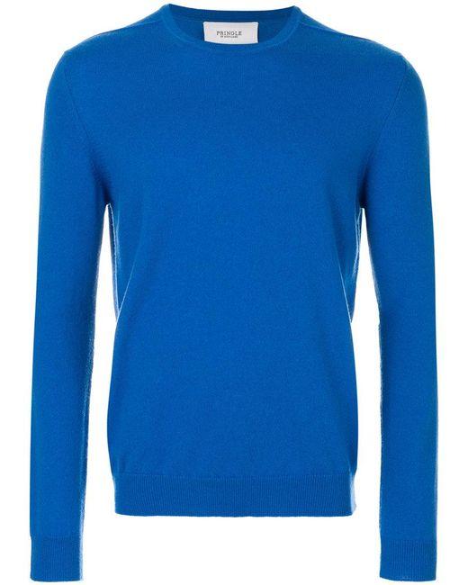 Pringle of Scotland - Blue Crew Neck Jumper for Men - Lyst