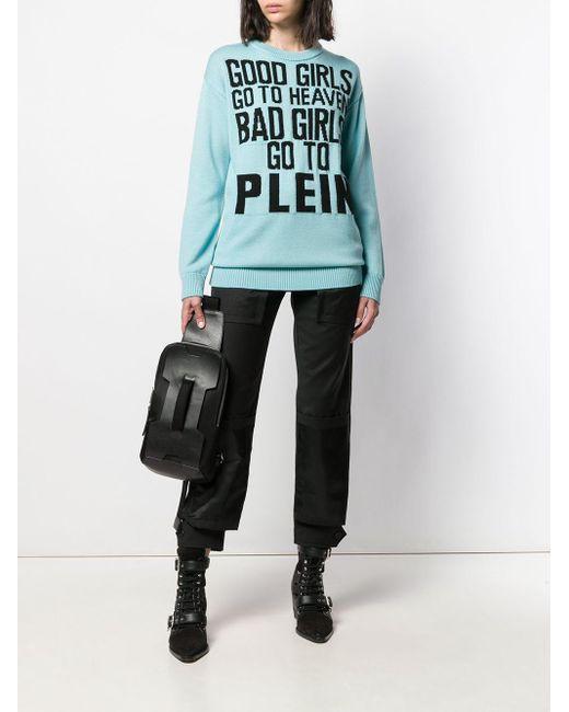 Maglione con stampa di Philipp Plein in Blue