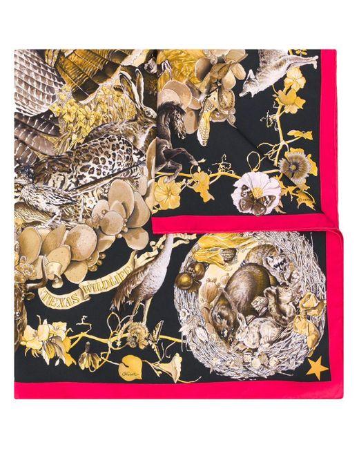 Платок Faune Et Flore Du Texas 1990-х Годов Pre-owned Hermès, цвет: Brown