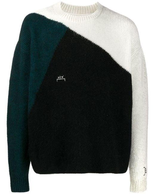 A_COLD_WALL* Black Colour-block Knit Jumper for men