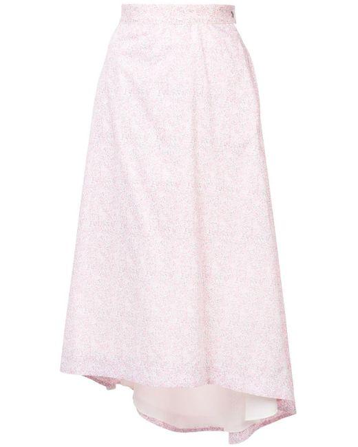 Loewe フローラルプリント スカート Pink